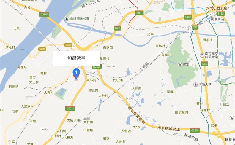 梅山汪海广场 新湖大道9号 1400米 莲花湖湿地公园 1200米